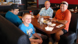 July 2016 - Nelson Hernandez, my grandson Kyler Kramer, Eric D. Olson and Don Boyd after breakfast at the Ranch House