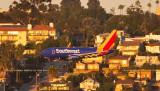 2016 - closeup version of a great Southwest Airlines Boeing 737-700 on short final approach to SAN