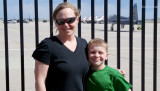 May 2016 - Karen and Kyler with the Thunderbirds in the background at Peterson Air Force Base