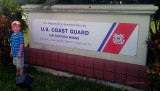 July 2012 - Kyler at USCG Air Station Miami after we shopped in their exchange