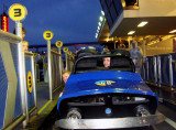 March 2010 - Kyler and Karen having fun on the race cars at Walt Disney World
