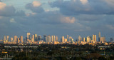 December 2009 - closeup of the Miami skyline at sunset as seen from Miami International Airport