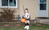 October 2008 - Kyler in his Halloween costume and about to start trick or treating
