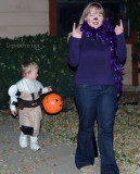 October 2008 - Kyler and Karen trick or treating on Halloween