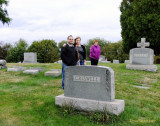 October 2015 - son-in-law Jon Perez, Donna and Karen at her parents' grave site in West Middletown, Pennsylvania