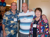 Joe Elizarde with Don and Karen Boyd at the Hialeah High Class of 1965 50-Year Reunion at Hialeah Park