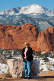 October 2007 - Karen Criswell Boyd with Garden of the Gods and Pike's Peak in the background