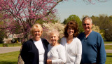April 2008 - Karen Criswell Boyd, Esther Majoros Criswell, Kathy and Jim Criswell in Franklin, Tennessee