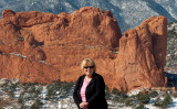 October 2007 - Karen Criswell Boyd with Garden of the Gods in the background