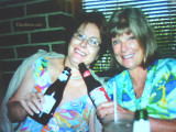 October 2008 - Linda Grother and Brenda Reiter drinking beers somewhere in South Florida