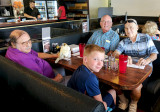 July 2017 - Nelson Fernandez, Don's grandson Kyler Kramer, Eric Olson and Don Boyd at the Ranch House after a great breakfast