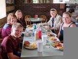 July 2017 - Kyler Kramer, Karen C. Boyd, Donna Boyd, Don Boyd and Karen Kramer at Stephen's Restaurant & New York Style Deli