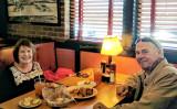 May 2017 - Karen and Don Boyd having another great meal at Jim 'N Nick's Bar-B-Q at Northfield, Denver, Colorado