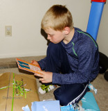 April 2016 - our grandson Kyler reading our birthday card on his 11th birthday in Colorado Springs