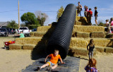 October 2016 - Kyler on the slide at Diana's Pumpkin Patch and Corn Maize in Canon City, Colorado