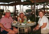 2009 - Don, Donna and Karen Boyd having dinner outside at the Hyatt Regency Maui