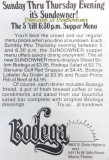 1977 - advertisement for the two Bodega restaurants in Dade County, one in Virginia Gardens and one in Miami