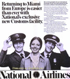 1979 - National becomes the first airline at Miami International to have their own Immigrations and Customs facility