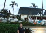 August 2010 - Karen in front of the Marriott Wailea Beach Resort on Maui