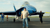 April 2008 - Brian Casidy with one of the U. S. Navy Blue Angels F/A-18's at Smyrna Airport, Tennessee