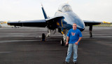 April 2008 - Matt Coleman with one of the U. S. Navy Blue Angels F/A-18's at Smyrna Airport, Tennessee