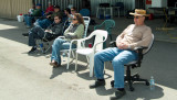 April 2008 - my BNA buddies waiting for the 2008 Smyrna Air Show to begin at Jim Criswell's (my bro-in-law) hangar