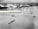 1922 - at least 5 Aeromarine Airways Model 75's moored in Biscayne Bay east of downtown Miami
