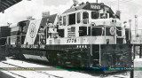 1976 - Seaboard Coast Line showing off their Bicentennial Engine #1776 in Miami