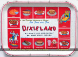 Burger Museum display - Dixieland serving tray from the 1960's