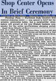 November 1956 - article about the grand opening of the Flamingo Shopping Center in east Hialeah