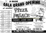 June 1961 - the grand opening of the Pizza Palace on Palm Springs Mile