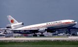 July 1978 - National Airlines DC10-10 N70NA rotating from runway 9L at Miami International Airport