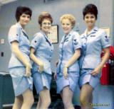 1974 - SK3 Donnis Beauchamp, YN2 Karen Fraser, YN3 Della Hollinger and YN2 Kay Rodriguez, USCGR