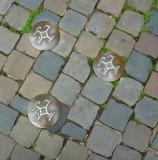 Bronze Charlemagne Symbols in Aachen