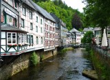 Monschau on the Rur River . 1