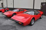 Circa 1980 Ferrari 308 GTS, right, and GTB (4697)