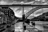 Porto (Portugal) The pier at sunshine