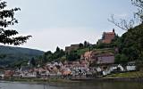 Hirschhorn, vid Neckarfloden, Tyskland
