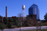 Smokestack, Water Tower, Office Building