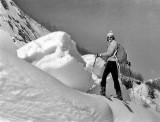 Le Pic Sanctus à ski depuis Gourette, 28 Mars 1976.