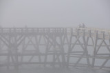 Sea front in the fog