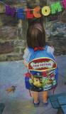 Baby is off to preschool.