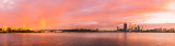 Perth and the Swan River at Sunrise, 15th May 2012