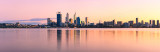 Perth and the Swan River at Sunrise, 8th July 2012