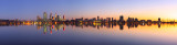 Perth and the Swan River at Sunrise, 12th July 2012