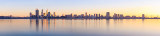 Perth and the Swan River at Sunrise, 20th July 2012