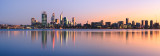 Perth and the Swan River at Sunrise, 24th July 2012