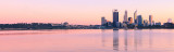 Perth and the Swan River at Sunrise, 28th July 2012