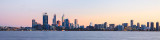 Perth and the Swan River at Sunrise, 30th July 2012