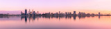 Perth and the Swan River at Sunrise, 6th September 2012